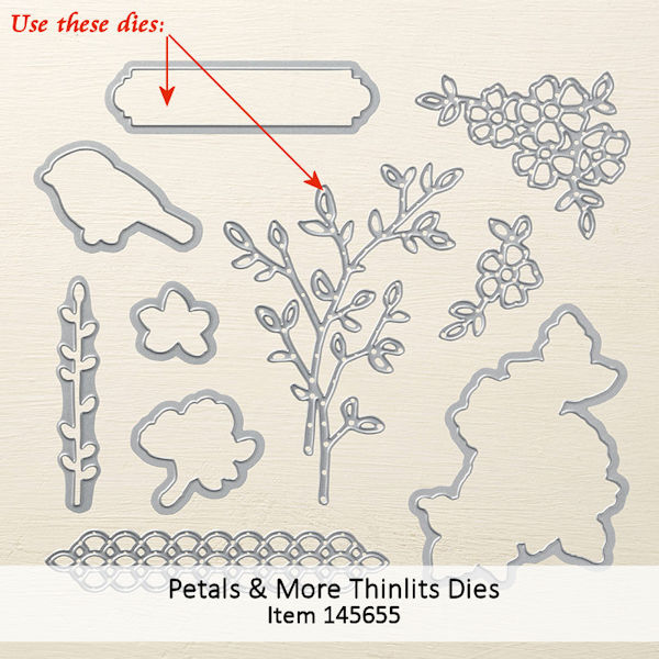 Petals & More Thinlits 145655 at WildWestPaperArts.com